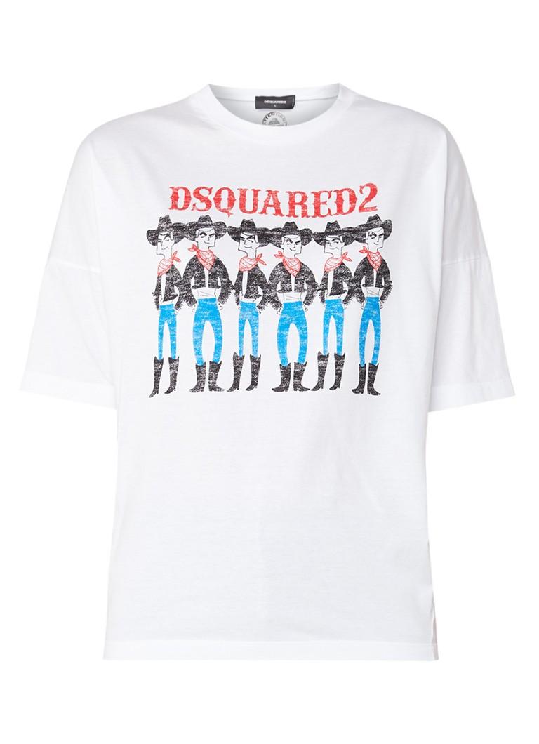 Dsquared2 Cowbows T-shirt met logoprint
