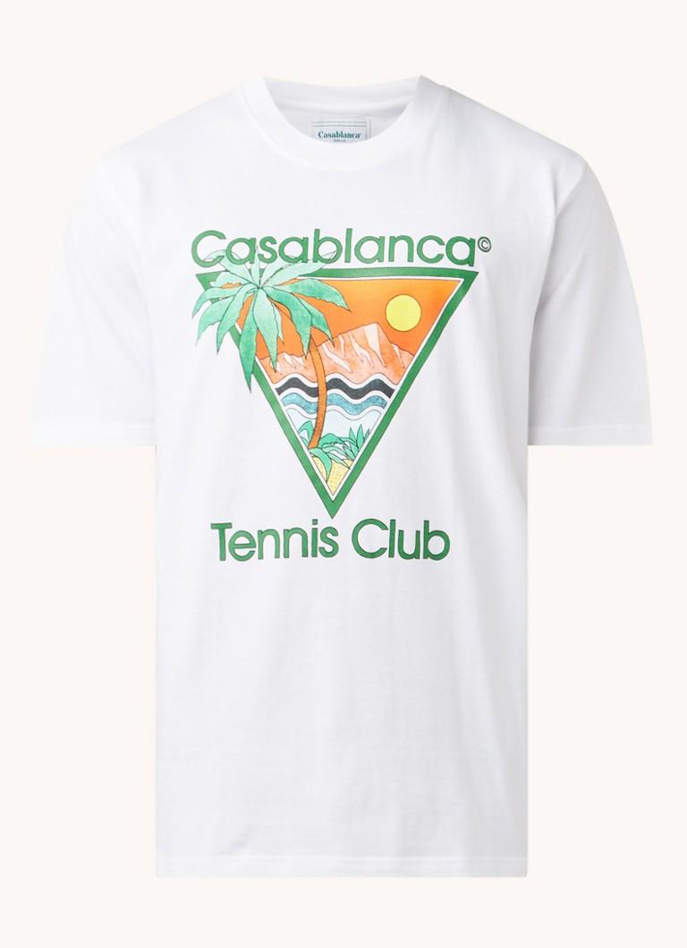 Casablanca Tennis Club T-shirt met print