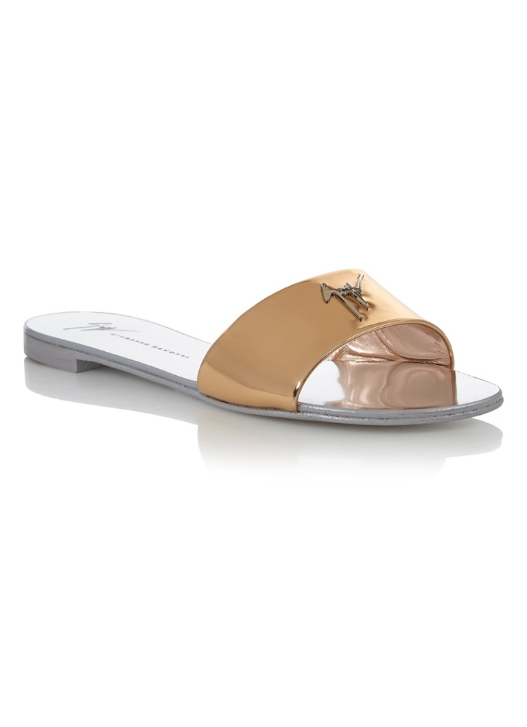 Giuseppe Zanotti Shirley slipper in metallic leer
