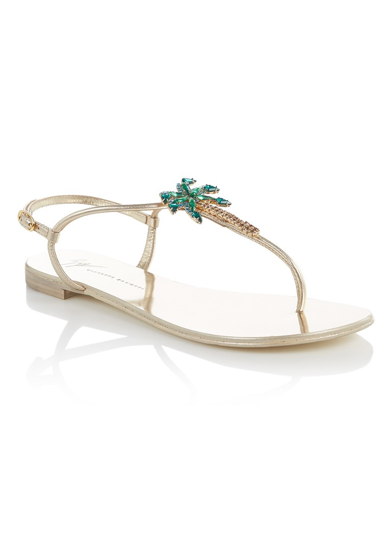 Giuseppe Zanotti Venice Beach sandaal van leer met palmboom