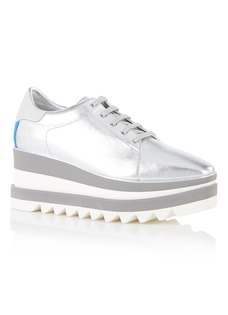 Stella McCartney Sneak-Elyse platform sneaker van ecoleer in metallic