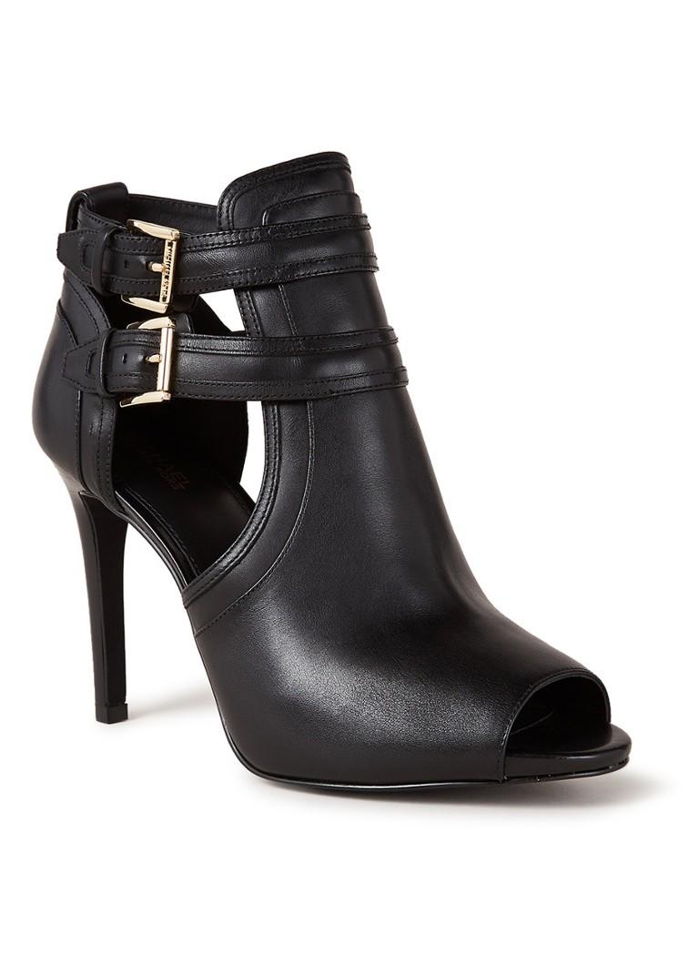Michael Kors Blaze sandalette van leer met peeptoe