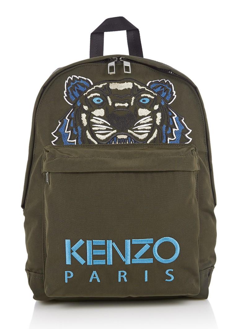KENZO Tiger Large rugtas met logoborduring