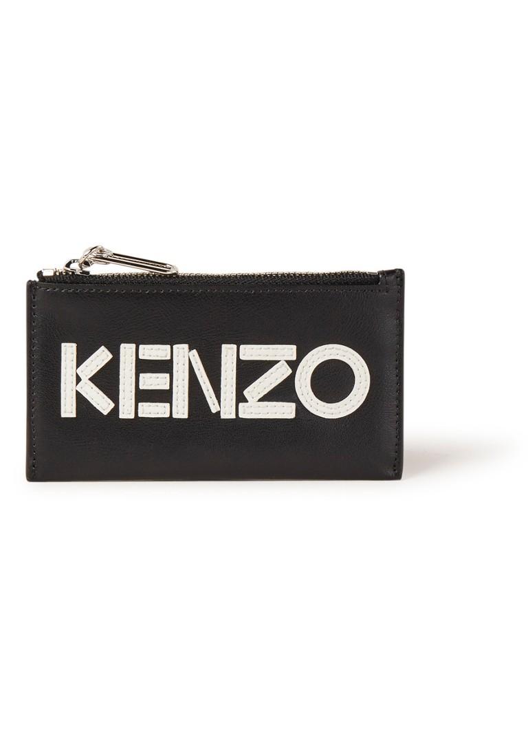 KENZO Creditcardetui van leer met logo