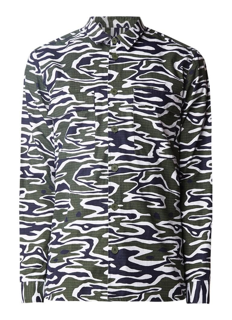 Samsøe & Samsøe Marlon overhemd met camouflageprint