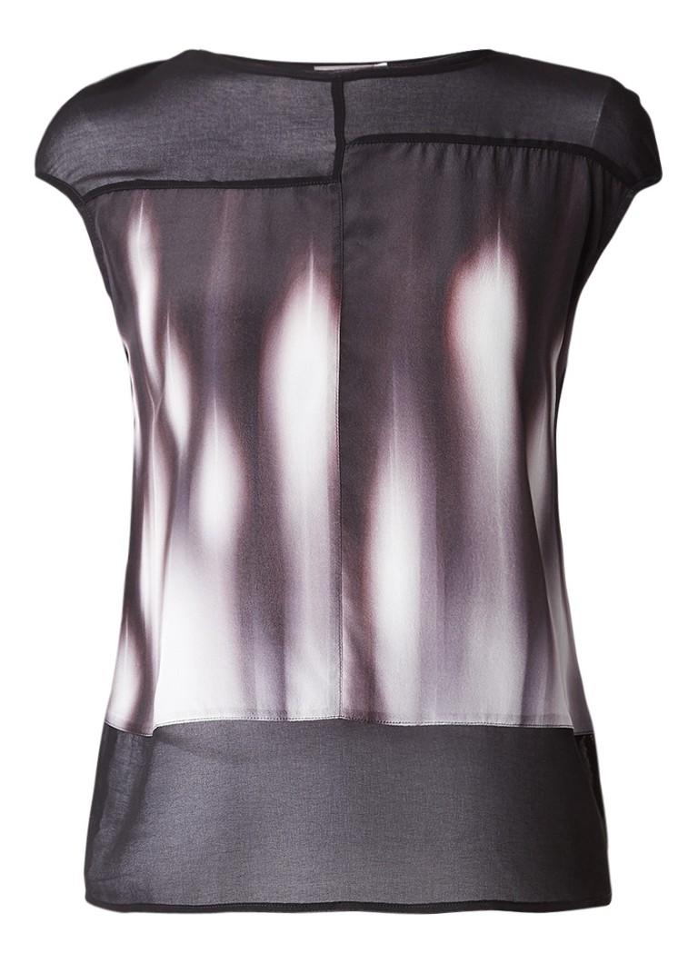Mint Velvet Pyper top in zijdeblend met abstracte print