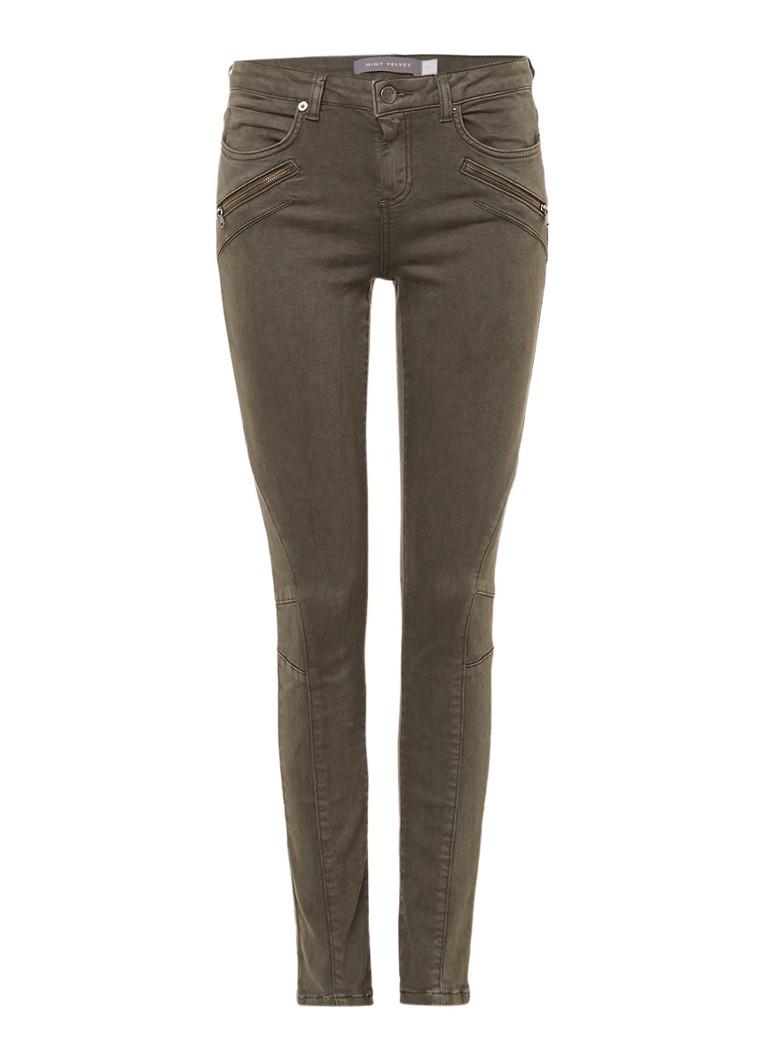 Mint Velvet Darby mid rise biker skinny jeans