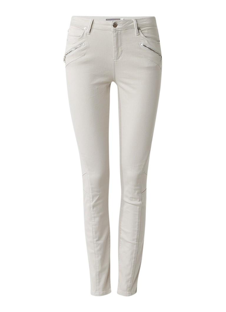 Mint Velvet Darby biker skinny jeans met ritsdetails