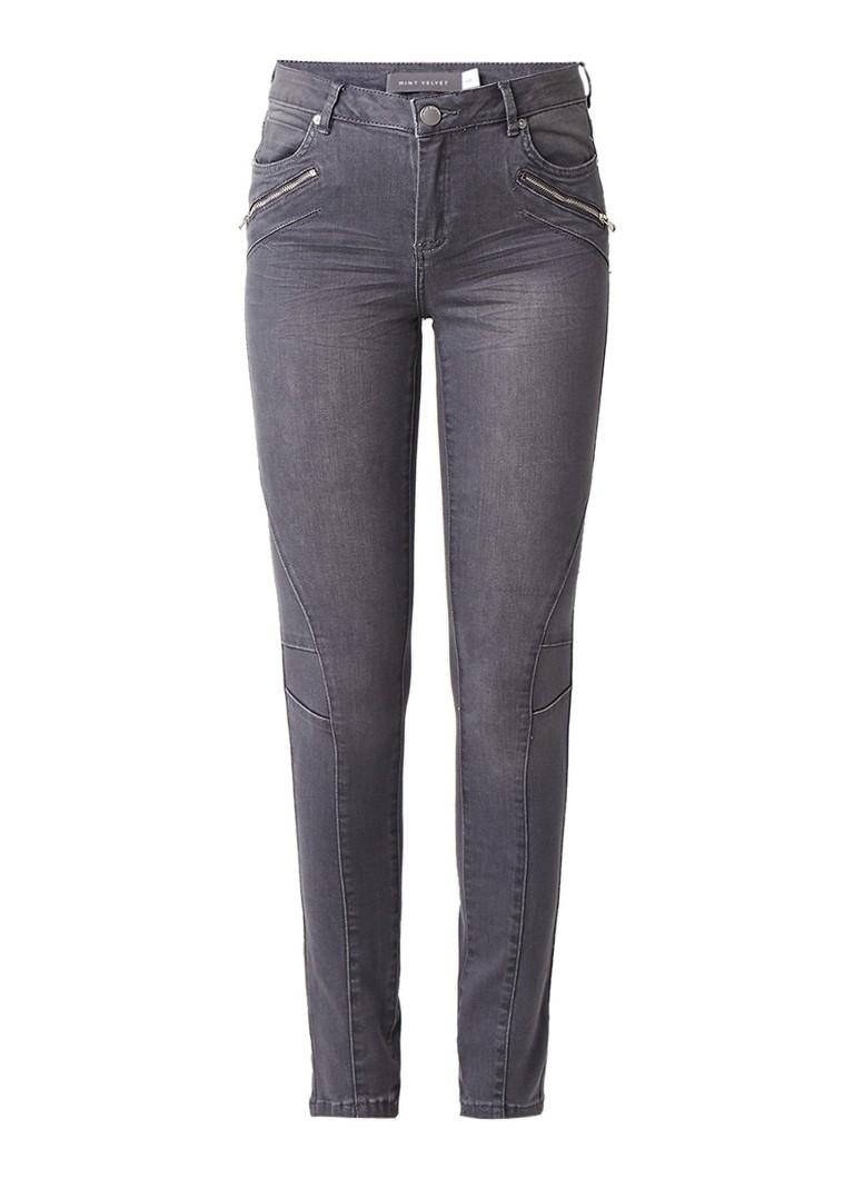 Mint Velvet Darby skinny jeans met biker look
