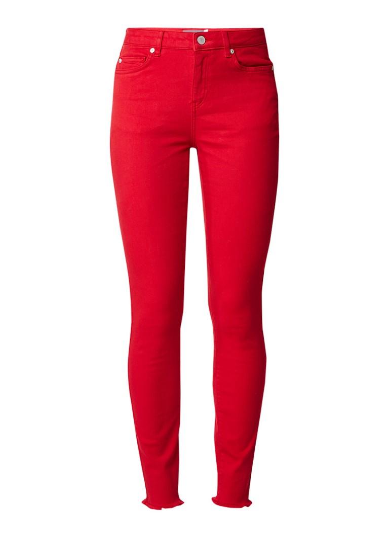 Mint Velvet High rise skinny jeans met gerafelde zoom