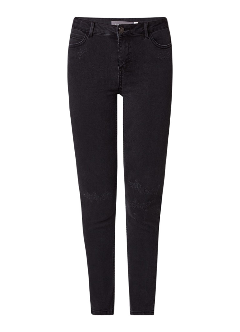 Mint Velvet Beaumont high rise cropped skinny jeans met destroyed details