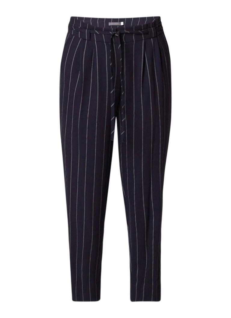 Mint Velvet Cropped pantalon met krijtstreep en plooien