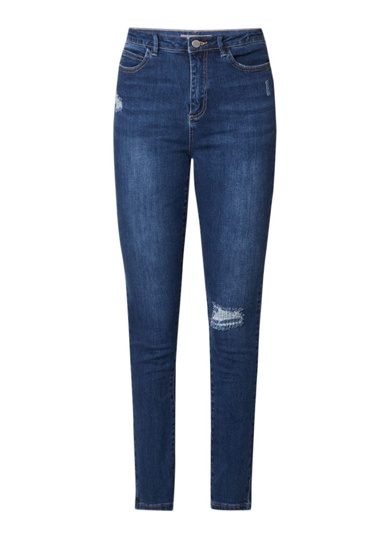 Mint Velvet Joliet high rise skinny jeans met destroyed details