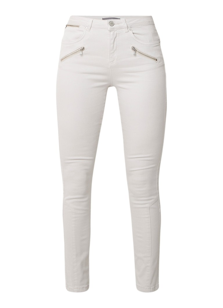 Mint Velvet Darby high rise slim fit jeans met lichte wassing