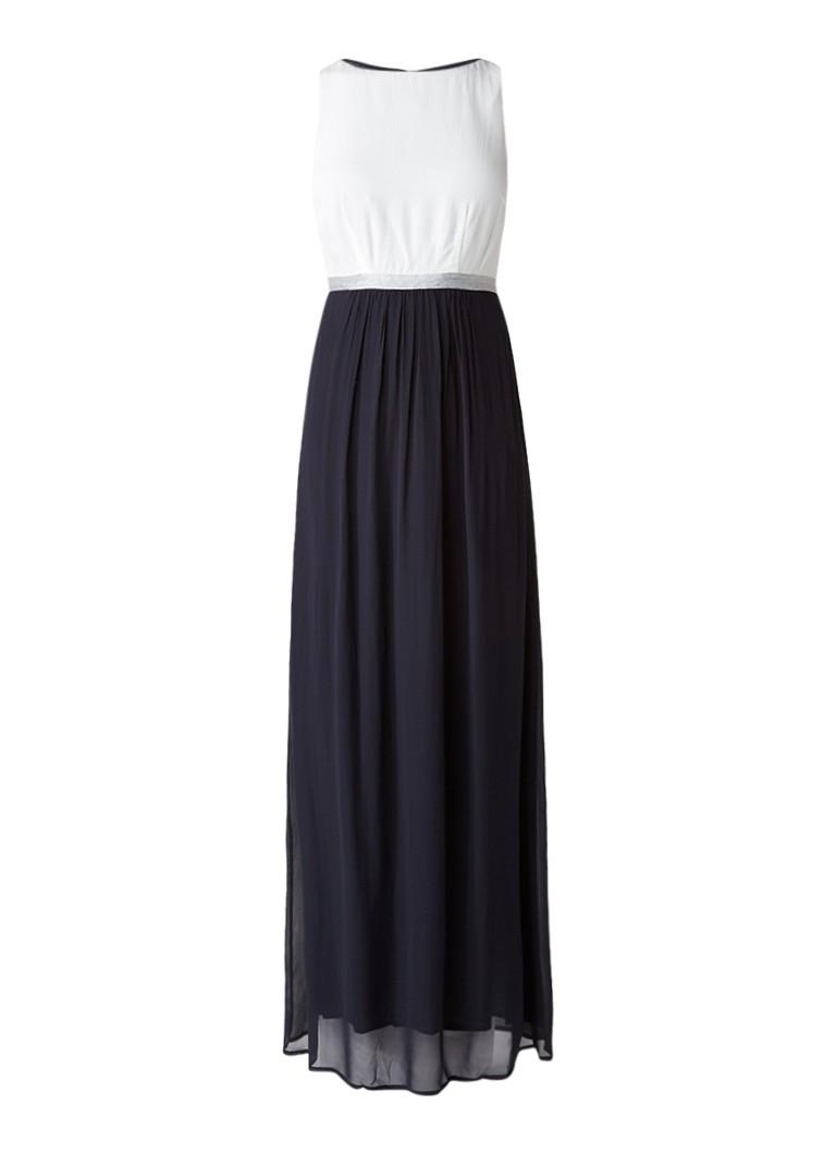 Mint Velvet Maxi jurk met tailleband van lurex donkerblauw
