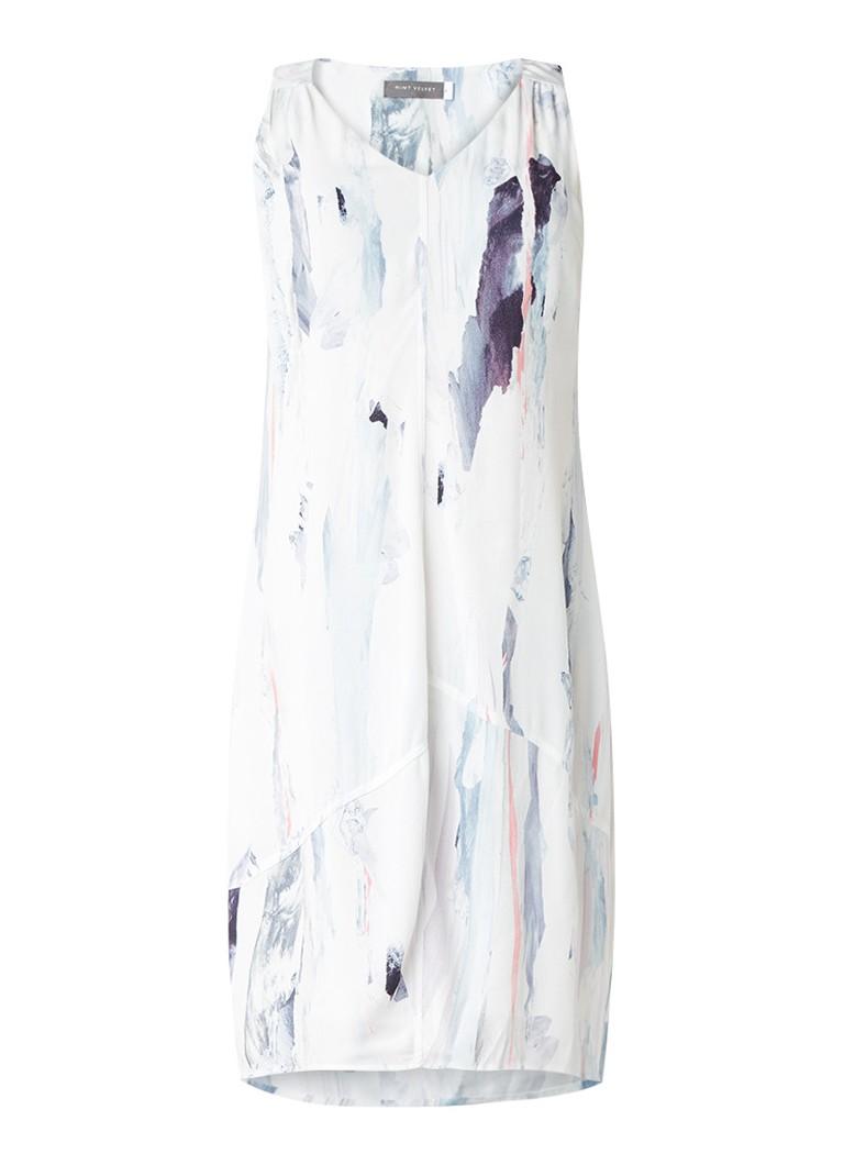 Mint Velvet Lili mouwloze tuniekjurk met abstracte print wit
