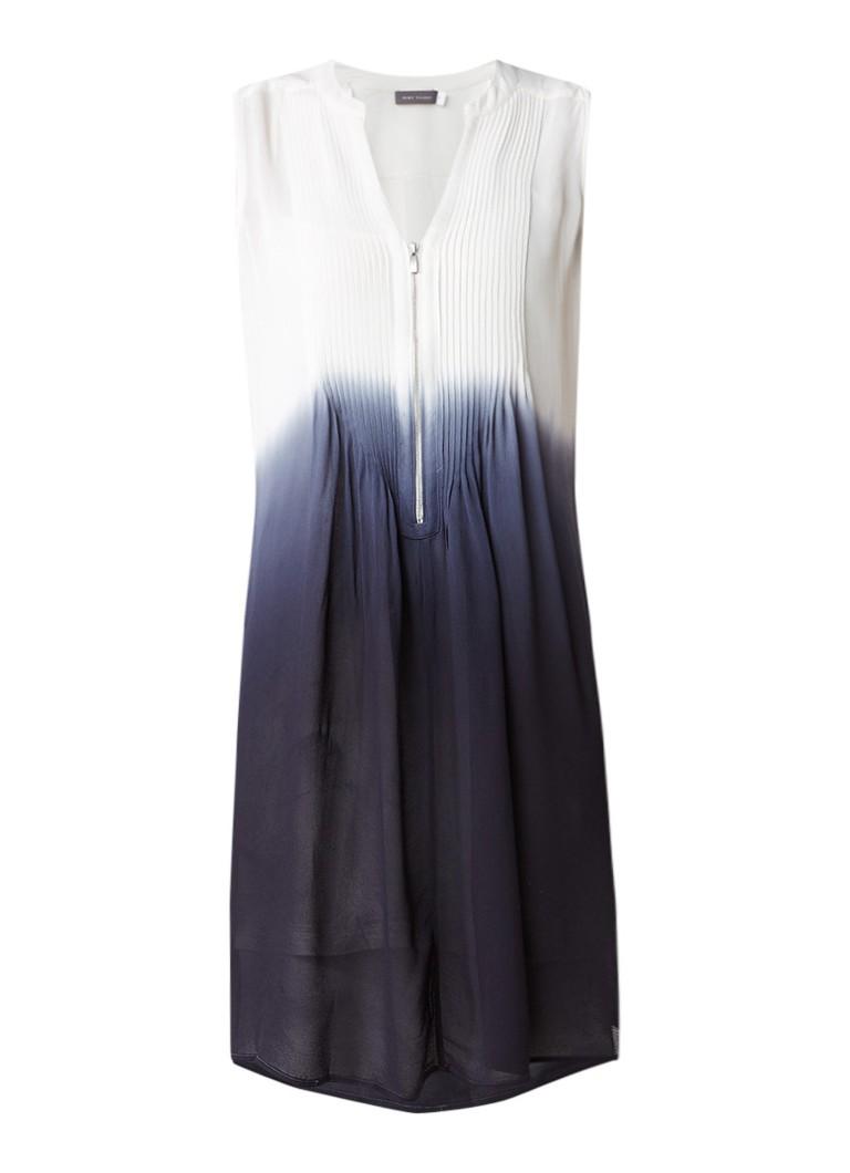 Mint Velvet Crêpe jurk met bies en kleurverloop donkergrijs