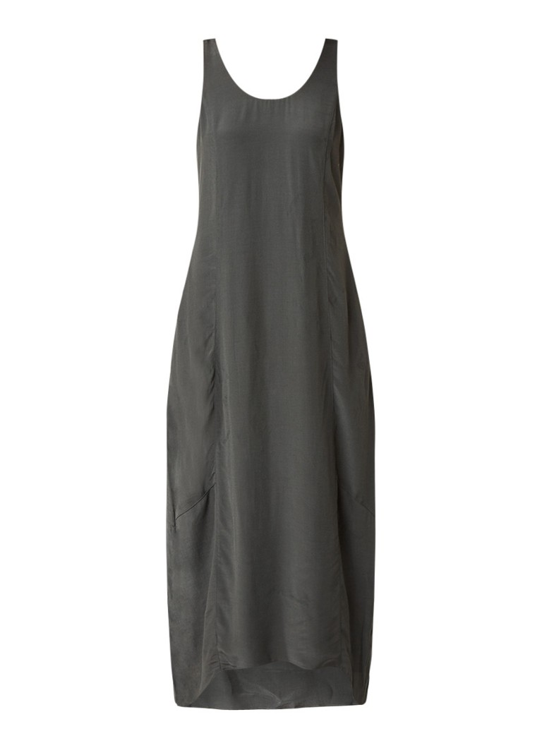 Mint Velvet Maxi-jurk met strikdetail olijfgroen