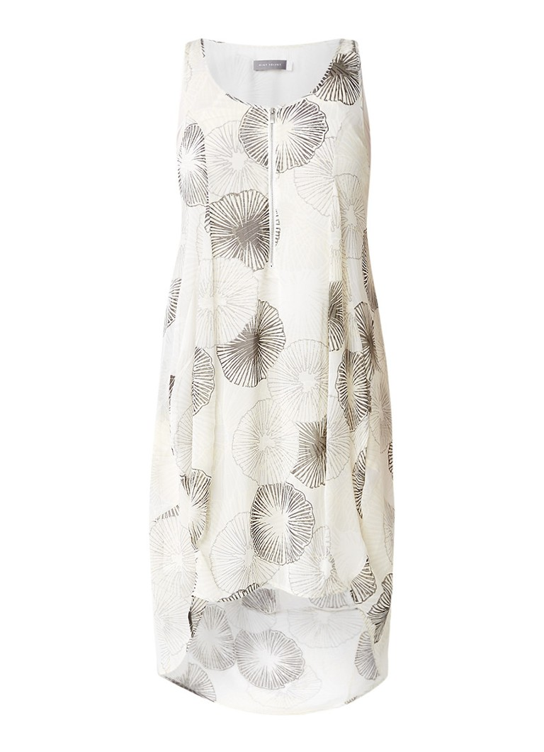 Mint Velvet Emilia tuniekjurk met print en rits beige
