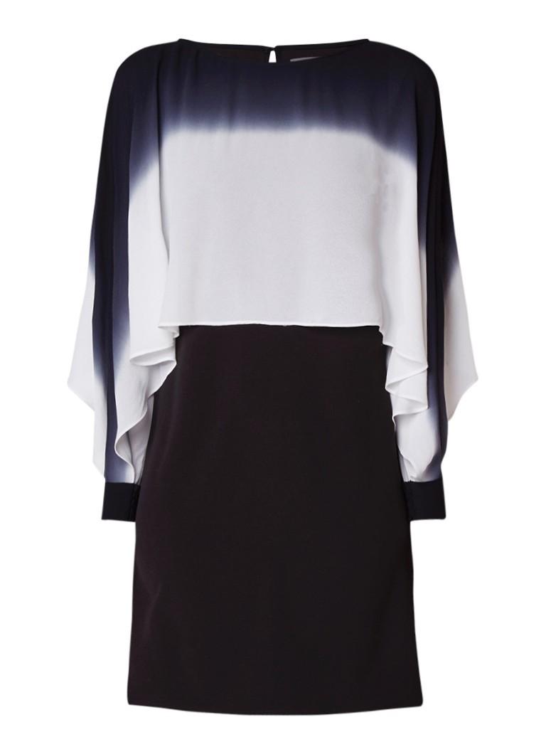 Mint Velvet Mini-jurk met ombré overlay van chiffon zwart