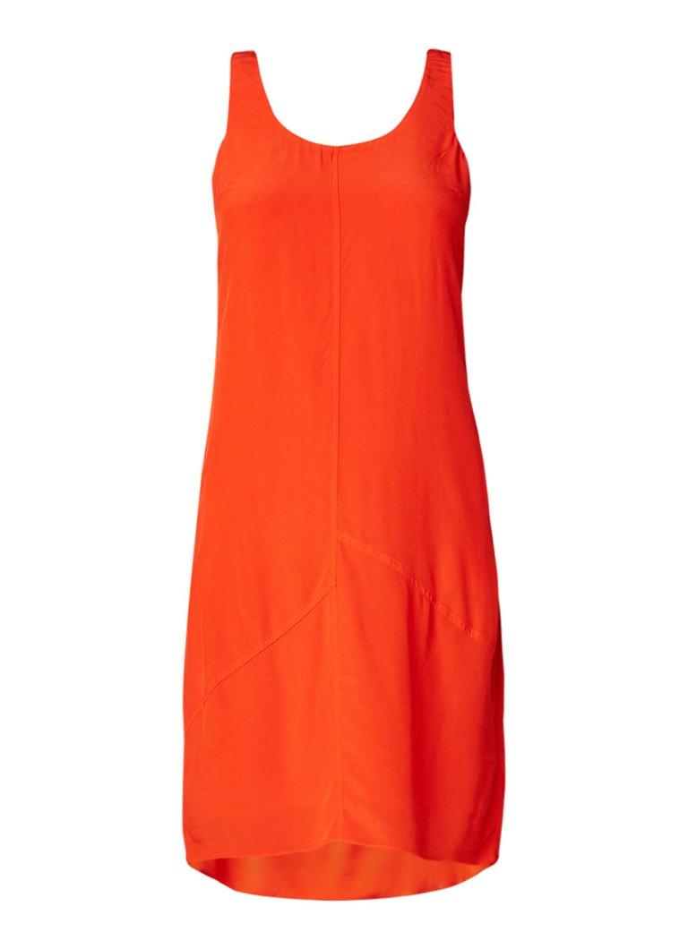 Mint Velvet Tomato midi-jurk met strikdetail oranjerood