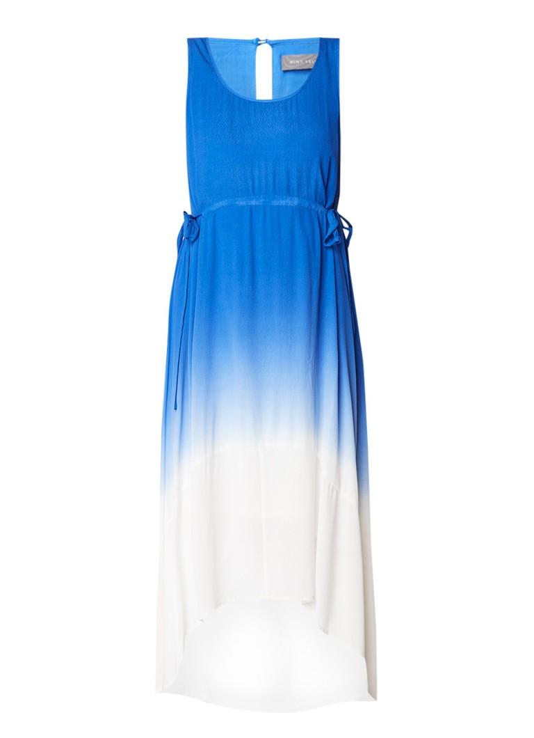Mint Velvet Midi-jurk van crêpe met dip dye-dessin kobaltblauw