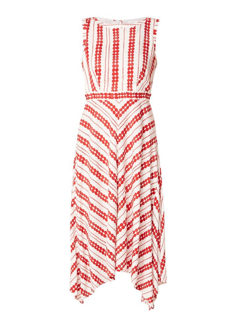 Mint Velvet Anita midi-jurk met stippendessin rood