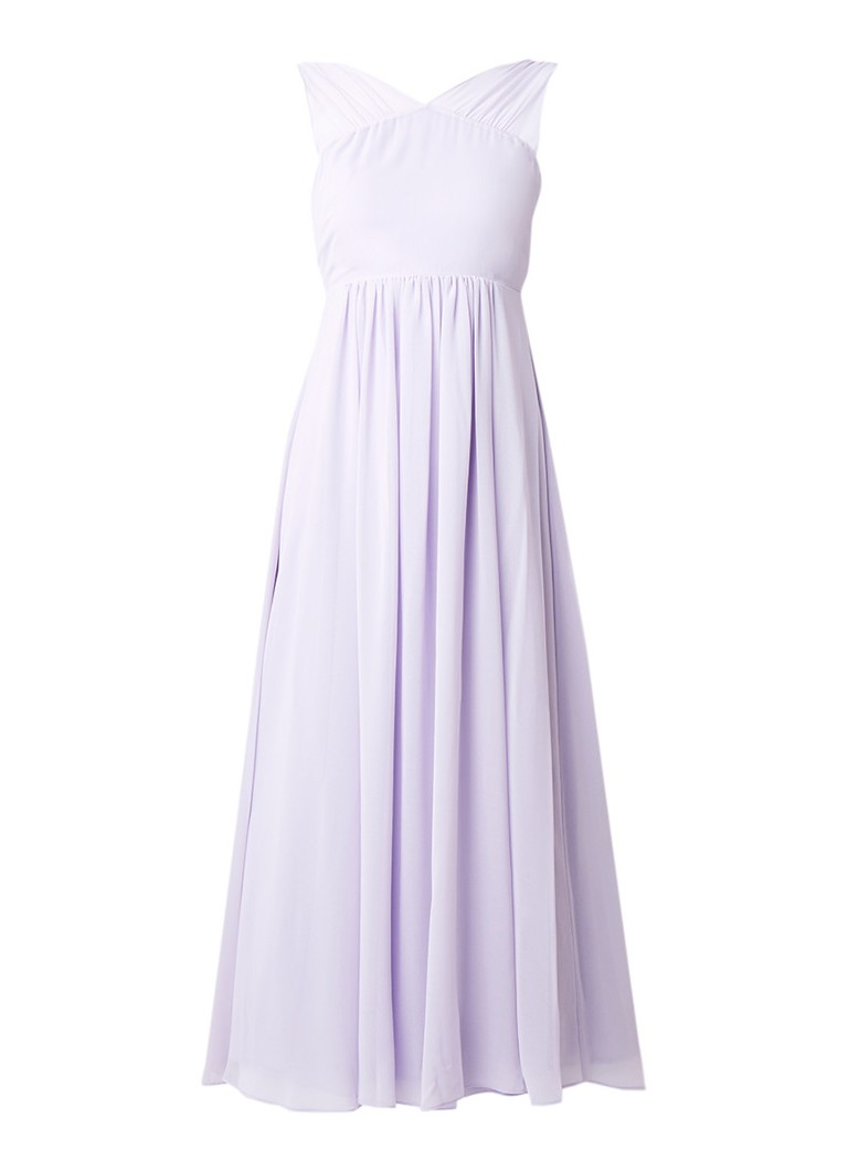 Mint Velvet Maxi-jurk van chiffon met strikdetail lila
