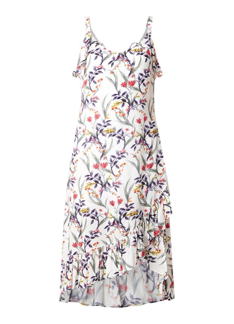 Mint Velvet Lillian midi-jurk met bloemendessin en volant multicolor