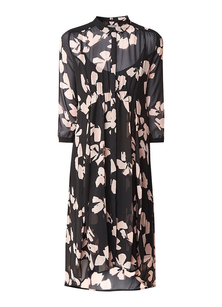 Mint Velvet Jessica blousejurk met onderjurk en strikdetail zwart