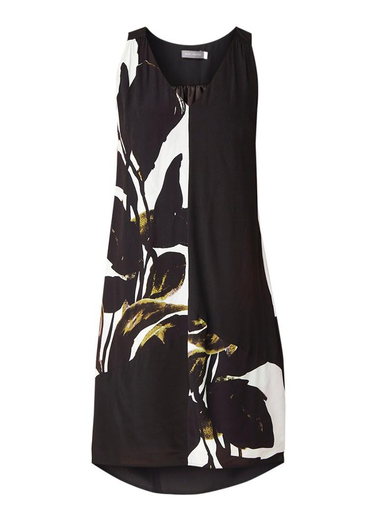 Mint Velvet Emily mouwloze tuniekjurk met print zwart