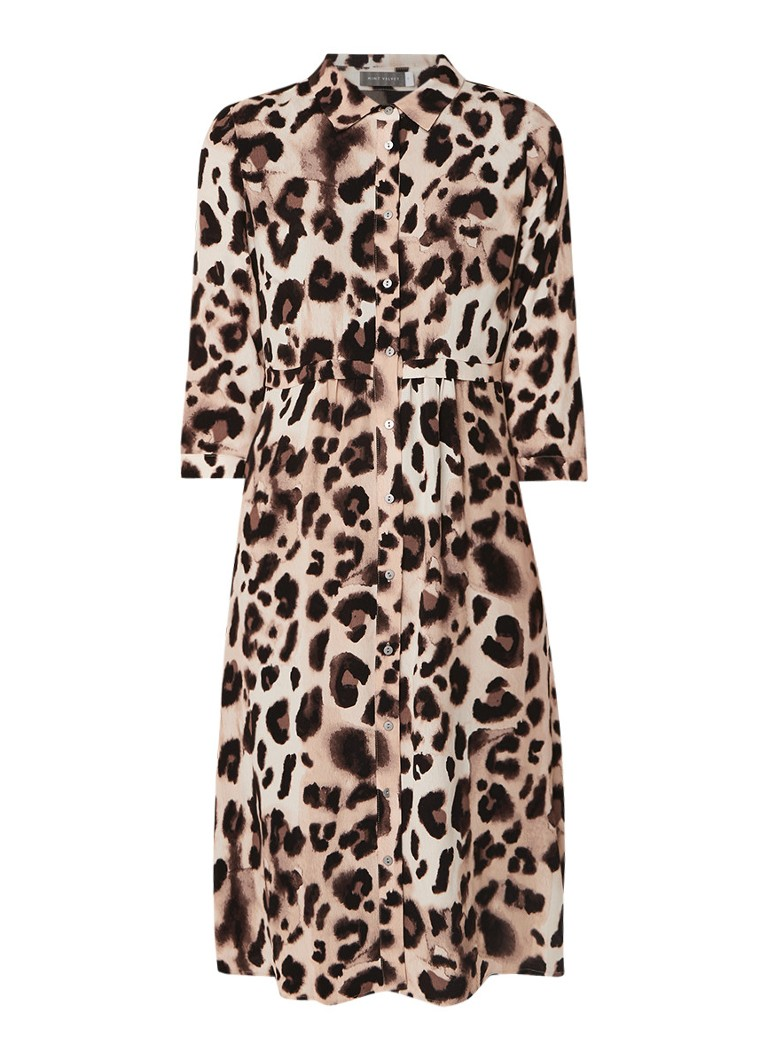 Mint Velvet Audrey tuniekjurk met luipaarddessin bruin