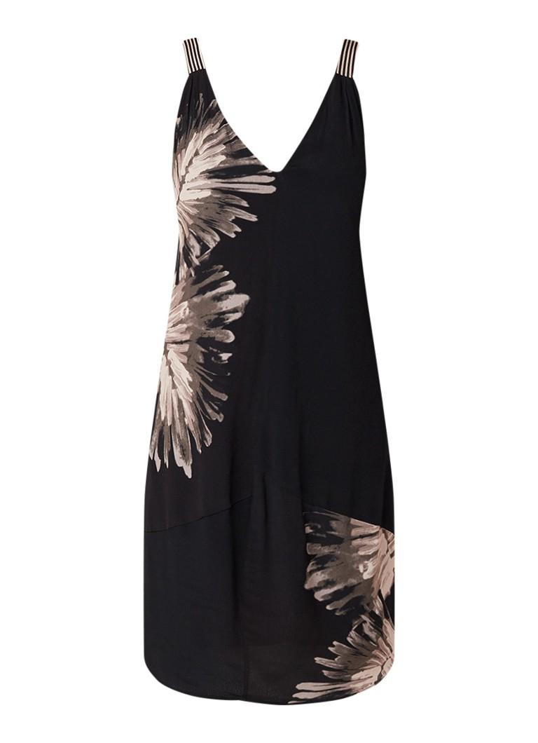 Mint Velvet Cami jurk met dessin en strikdetail zwart
