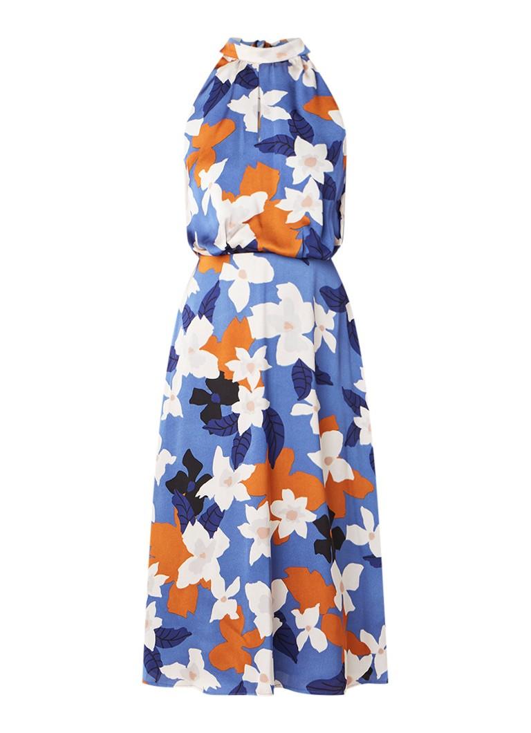 Mint Velvet Margot halterjurk met bloemendessin blauw