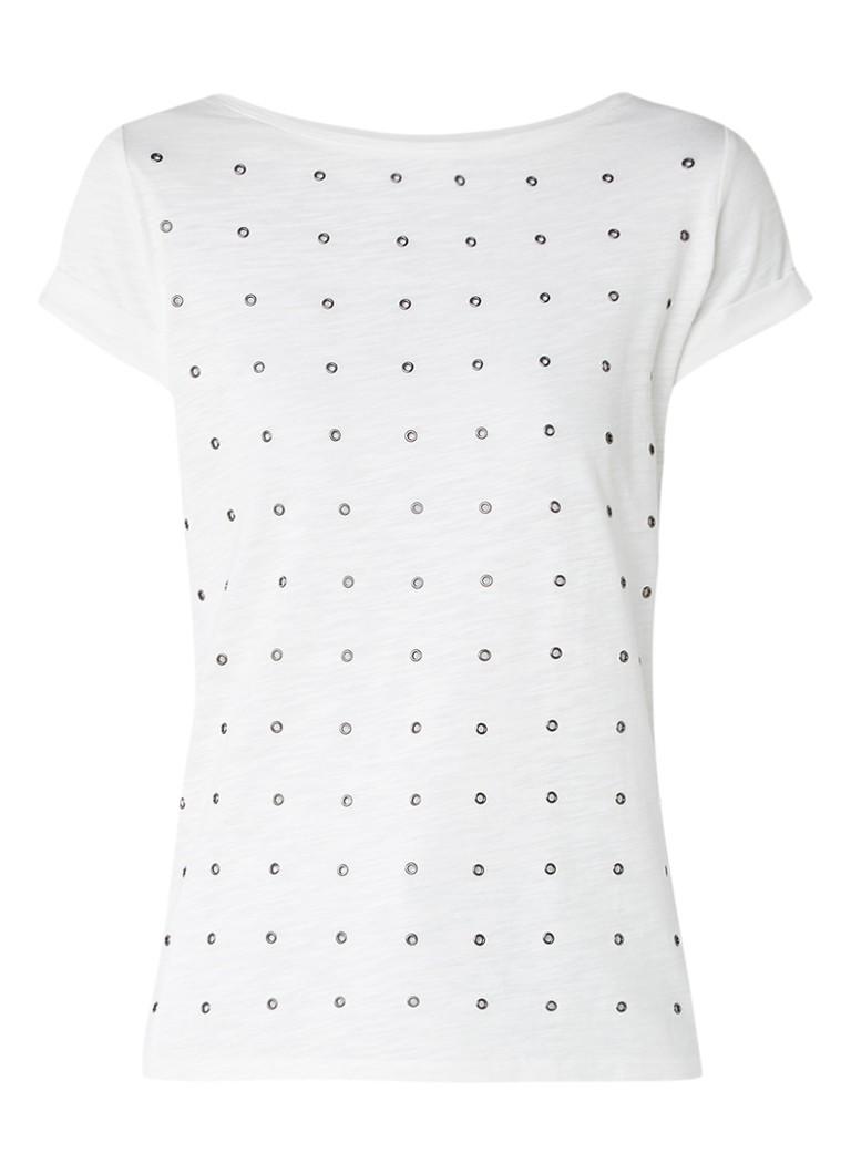 Mint Velvet Revolution T-shirts met eyelets