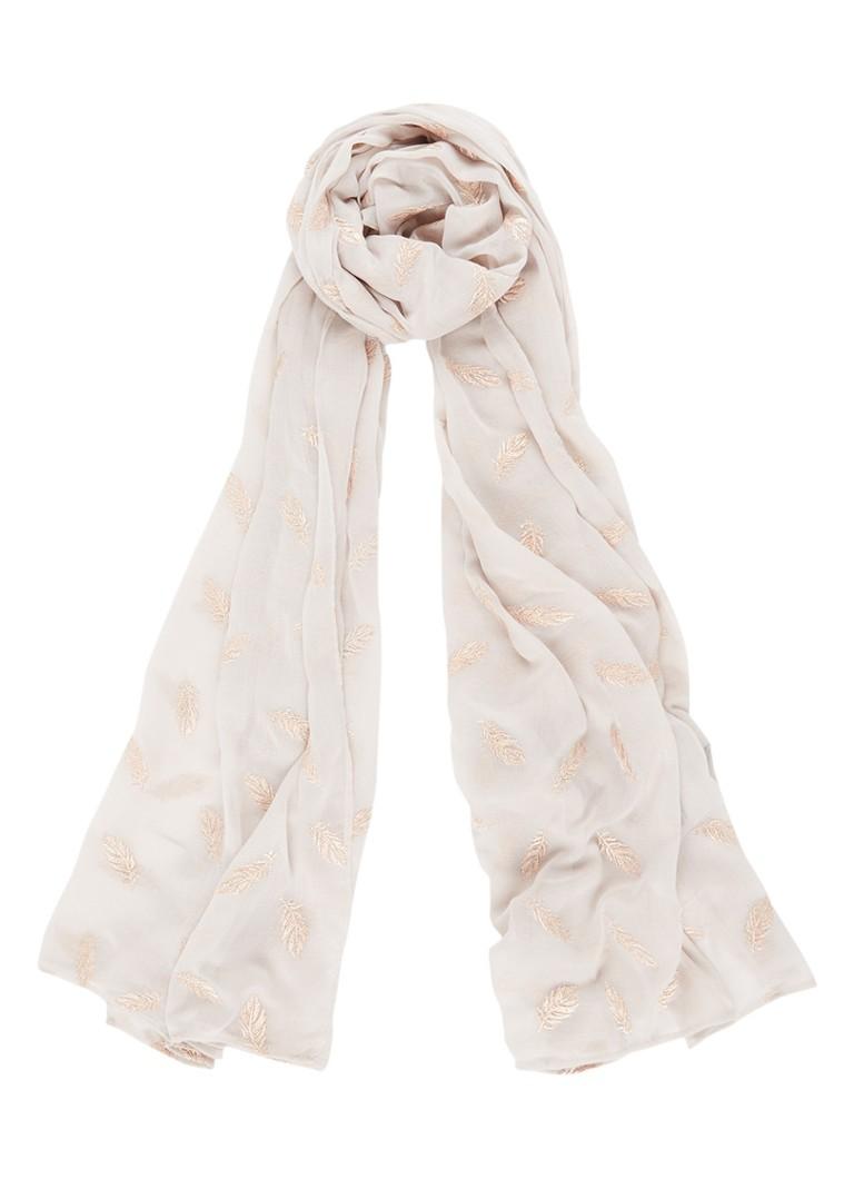 Mint Velvet Raven sjaal met metallic dessin 200 x 110 cm