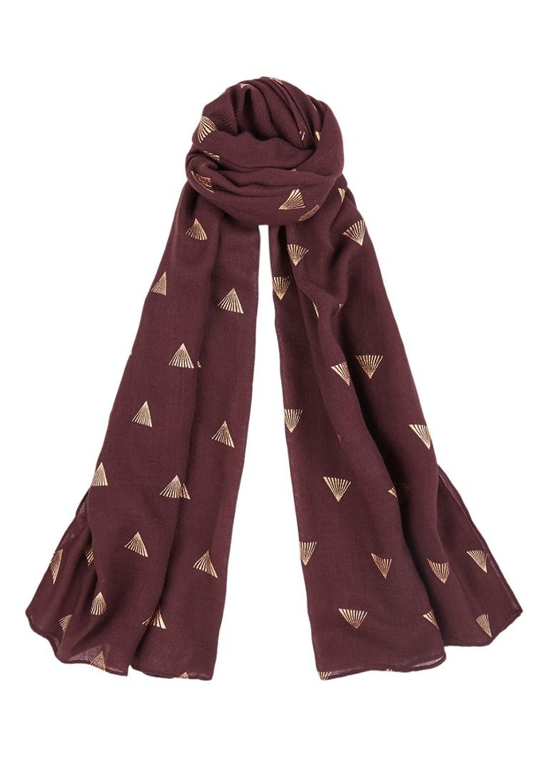 Mint Velvet Sjaal van wol met metallic print 180 x 70 cm