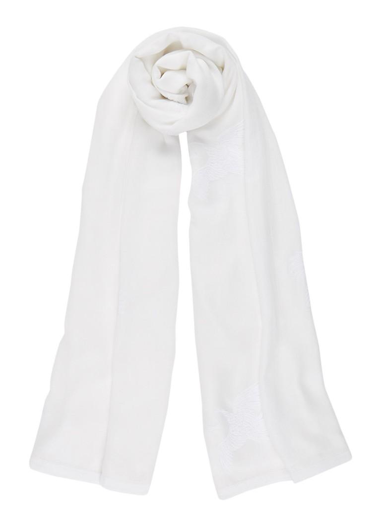 Mint Velvet Sjaal met geborduurde vogels 170 x 100 cm