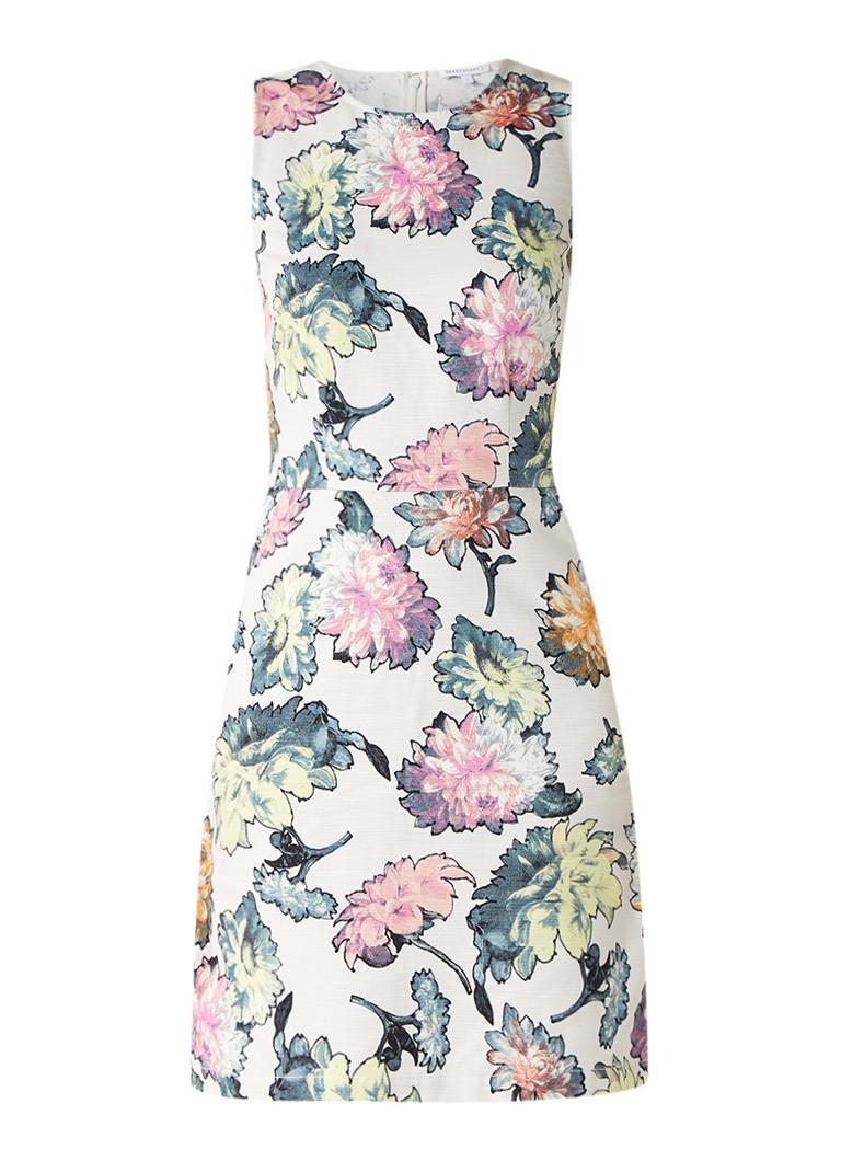 Warehouse Mouwloze A-lijn jurk met gebloemd dessin multicolor