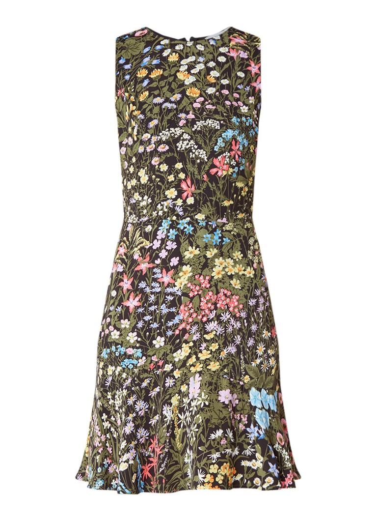 Warehouse Wild Garden A-lijn jurk met bloemendessin groen