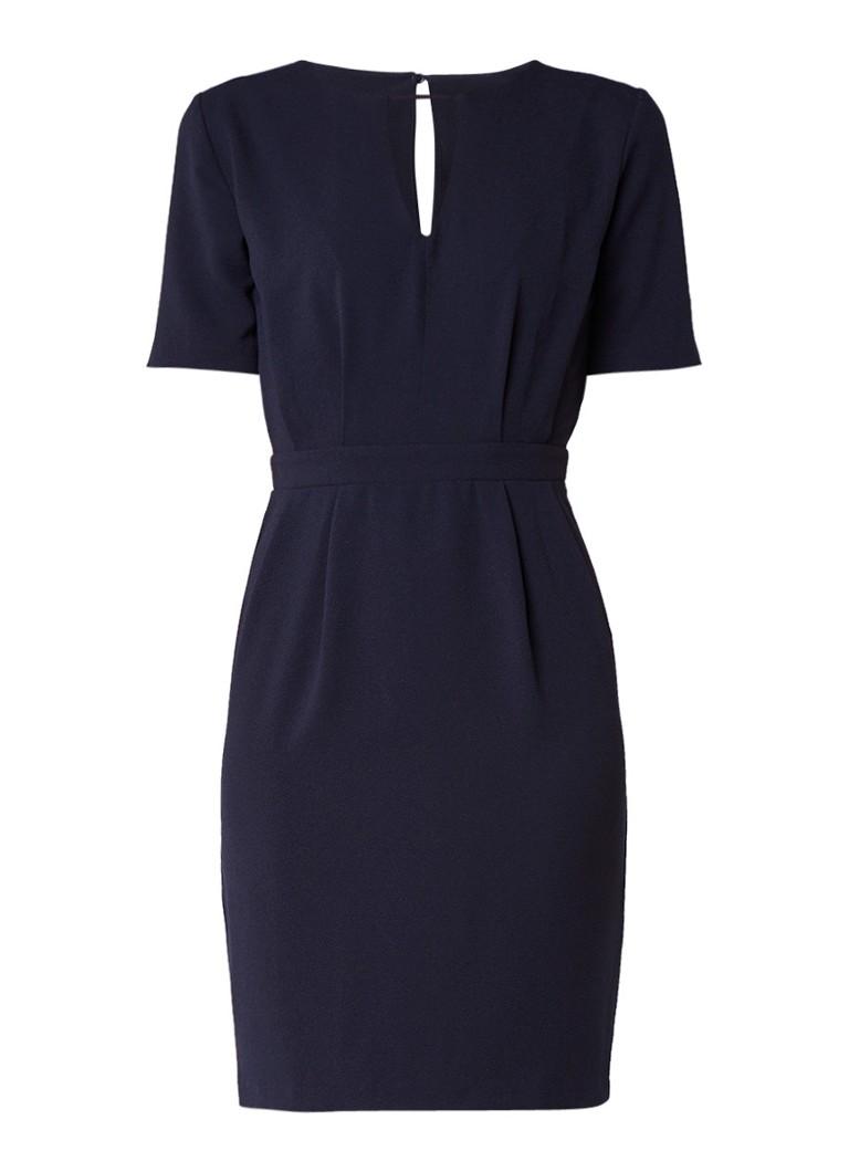Warehouse Midi-jurk met keyhole donkerblauw