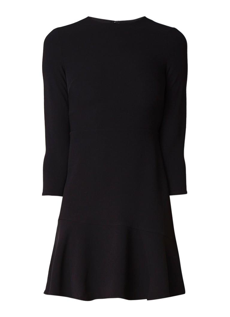 Warehouse A-lijn jurk van crêpe met peplum donkergroen