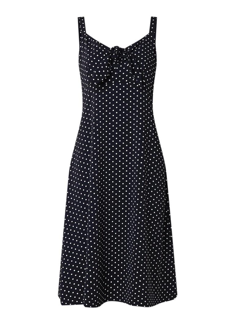 Warehouse Midi-jurk met polkadots donkerblauw