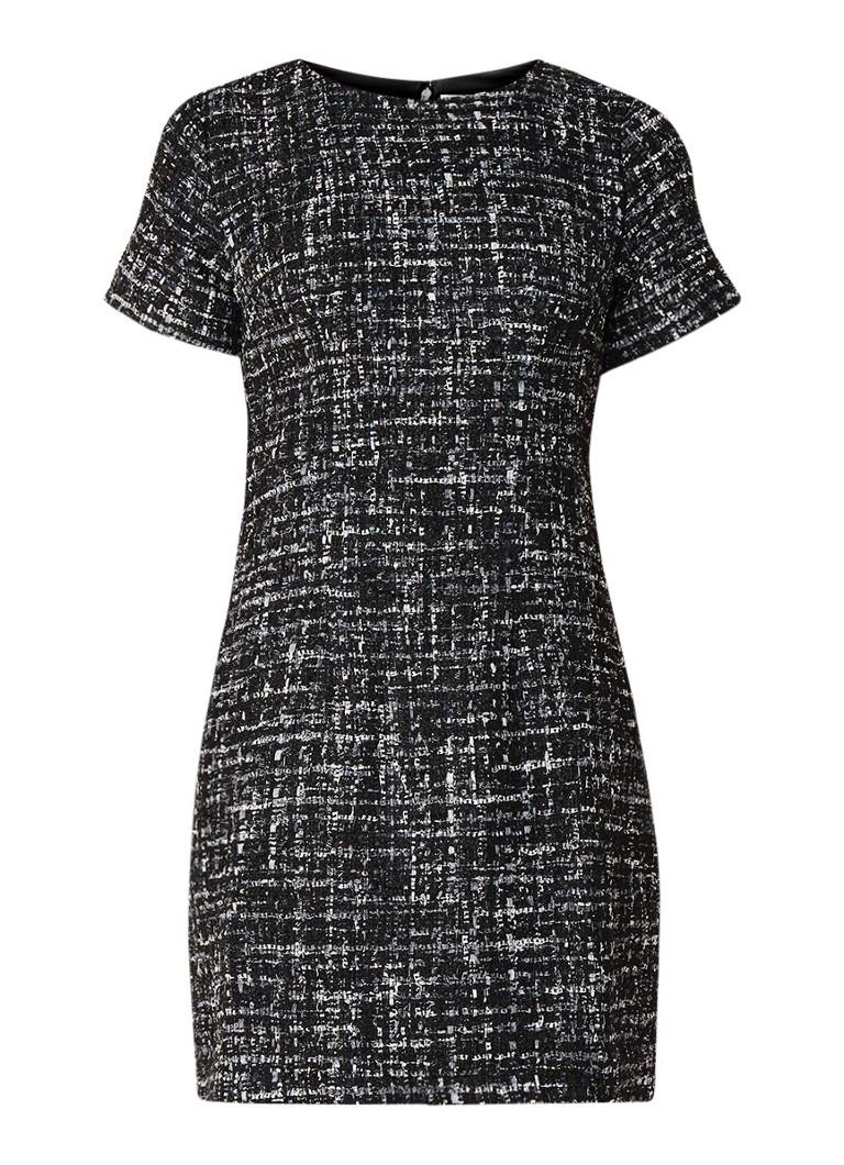 Warehouse Mini-jurk van tweed met lurex zwart