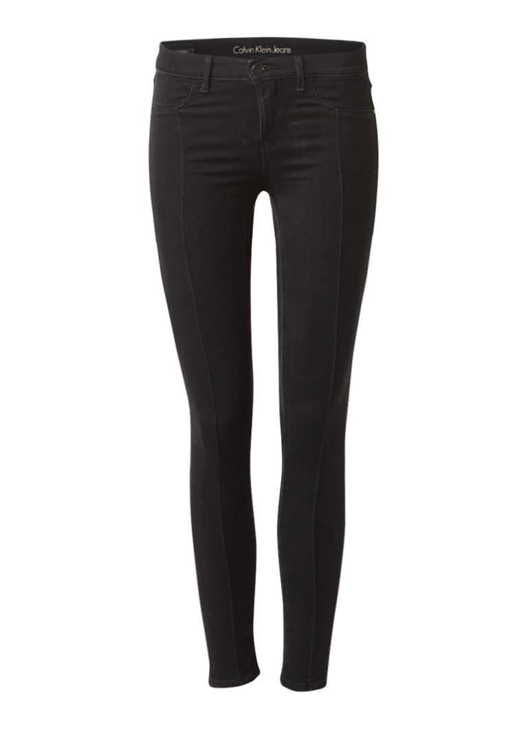 Calvin Klein Mid rise super skinny jeans met deelnaad
