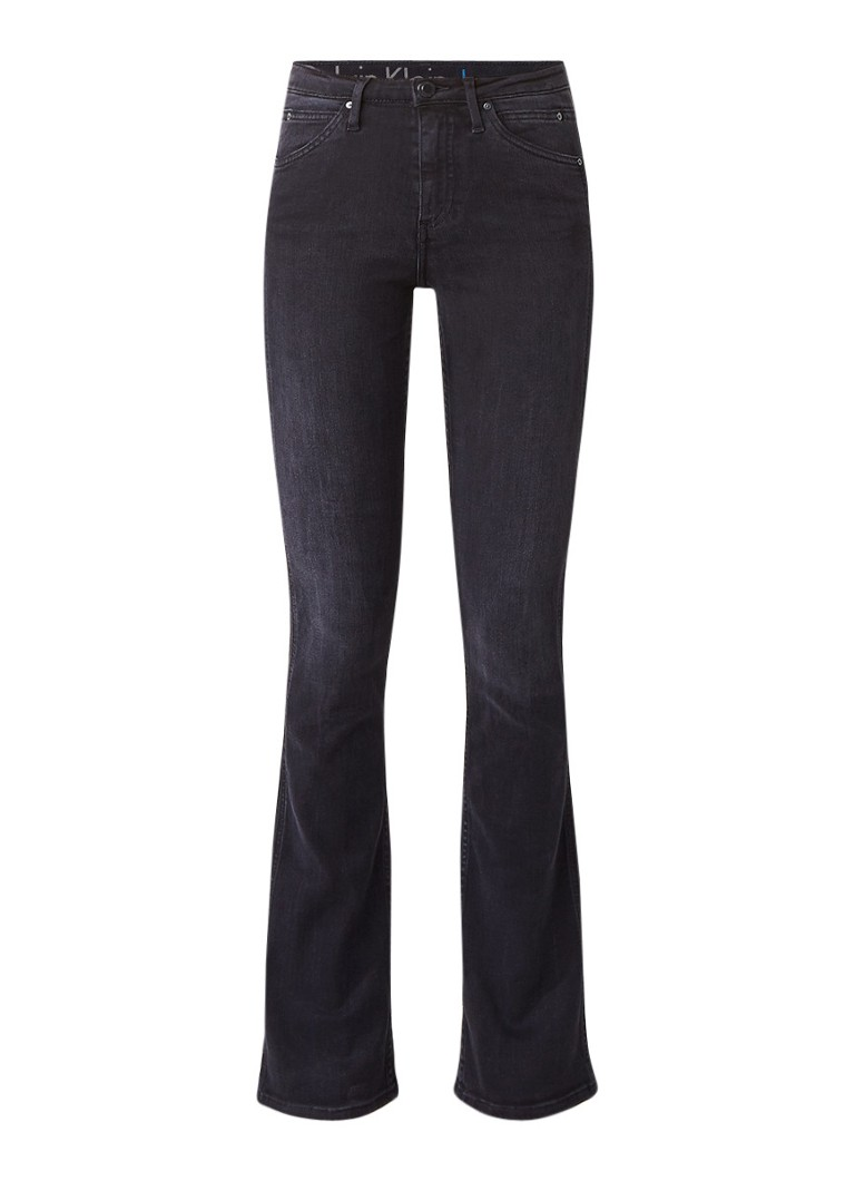 Calvin Klein High rise slim flared jeans met donkere wassing