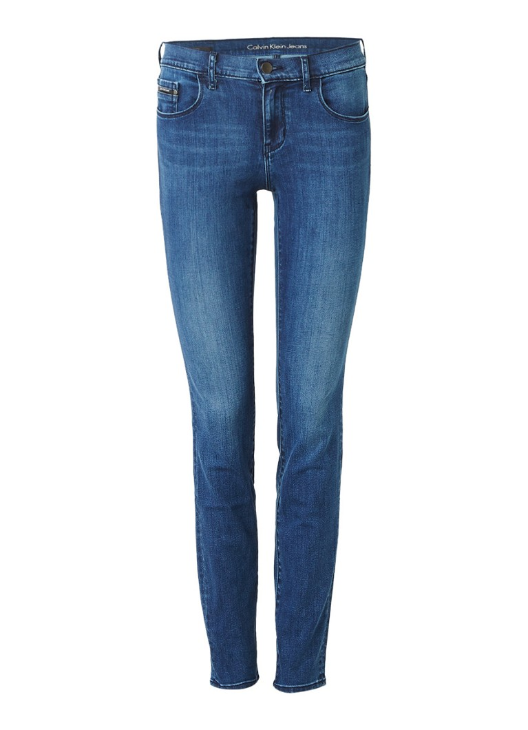 Calvin Klein Mid rise skinny jeans met power stretch