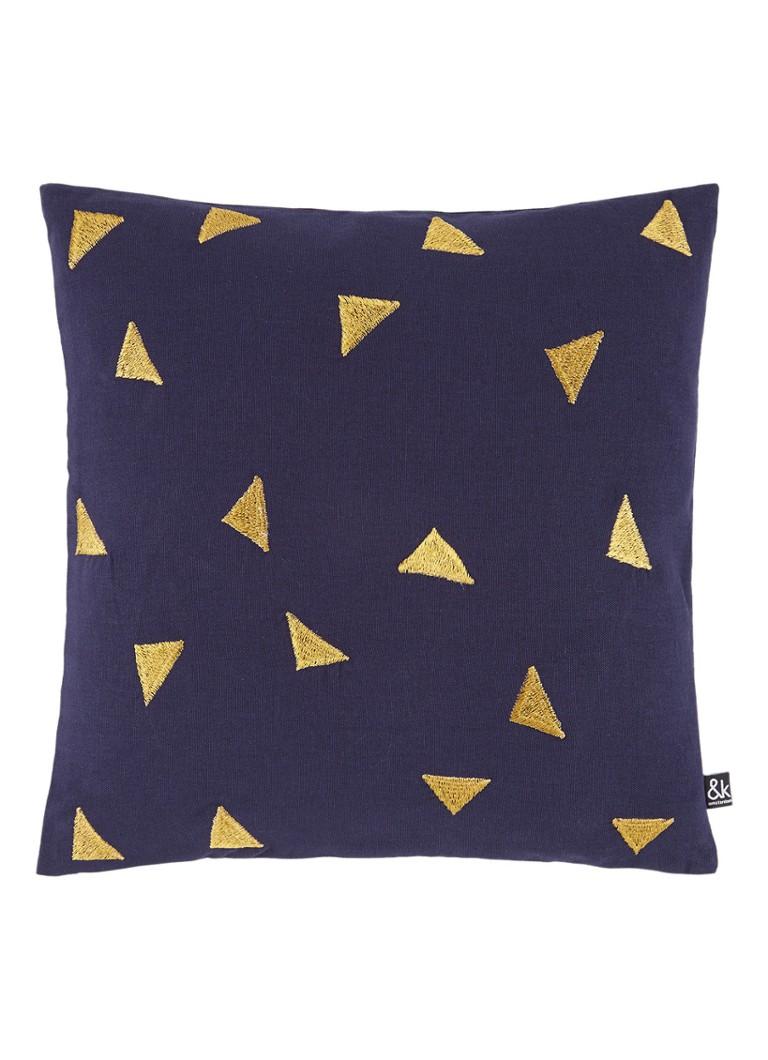 &Klevering Triangle sierkussen 40 x 40 cm