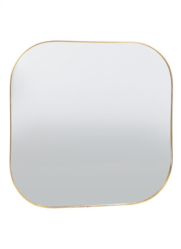 &Klevering Gold Square spiegel 30,5 cm