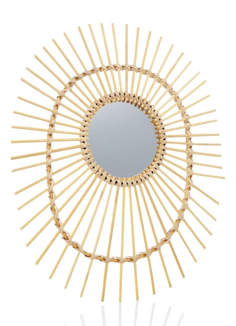 &Klevering Rattan spiegel